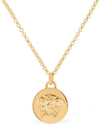 Versace Medusa Coin Long Necklace