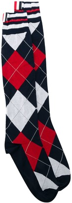 Thom Browne Argyle Knitted Socks