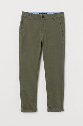 H&M Skinny Fit Chinos - Green