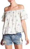 Angie Off Shoulder Short Sleeve Shirt