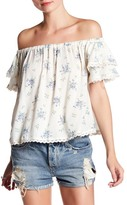 Angie Off-the-Shoulder Short Sleeve Shirt