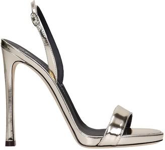 Giuseppe Zanotti Sophie Sandals In Platinum Leather