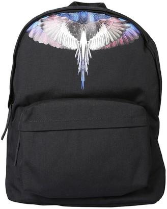 Marcelo Burlon County of Milan Black Nylon Wings Print Backpack