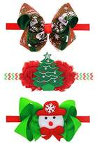 ROEWELL® Christmas Style Baby Headbands /Girl's Hair Bows/ infant Hairband
