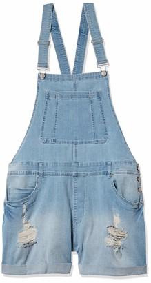 Dollhouse Women's Plus Size Cuffed Shortall