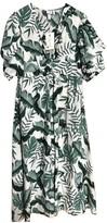 H&M Johanna Ortiz X Johanna Ortiz X Green Linen Dress for Women