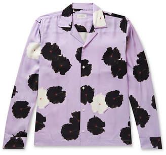 Saturdays NYC Marco Camp-Collar Floral-Print Lyocell Shirt
