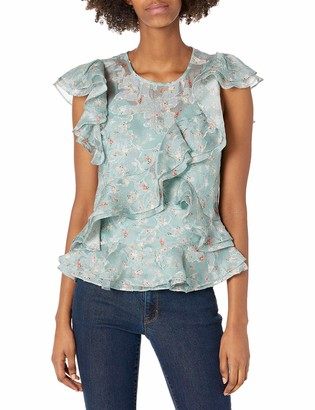 Rebecca Taylor Women's Sleeveless Serra Organza Top