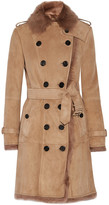 Burberry Toddingwall Shearling Trench Coat - Camel