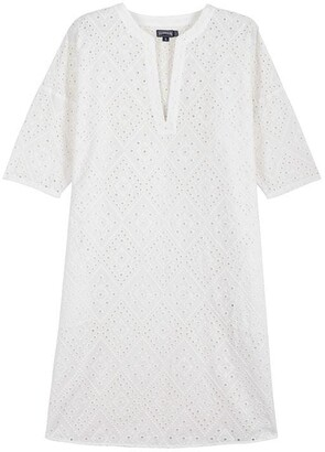 Vilebrequin Eyelet Embroidery Tunic Dress