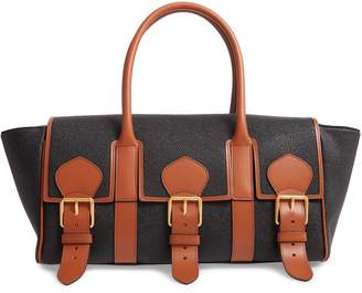 Mulberry & Acne Studios Bayswater Scotchgrain Faux Leather Satchel