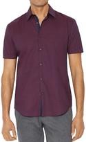 John Varvatos Micro-Print Slim Fit Button-Down Shirt