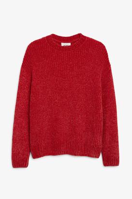 Monki Velvet knit sweater