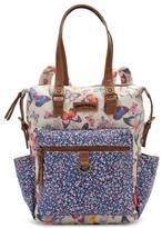 UNIONBAY Butterfly & Floral Print Convertible Tote Backpack