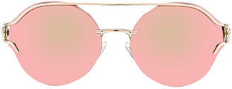 Versace Round Sunglasses in Black & Gold | FWRD