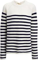 Joseph Sailor Stripe Cashmere Sweater