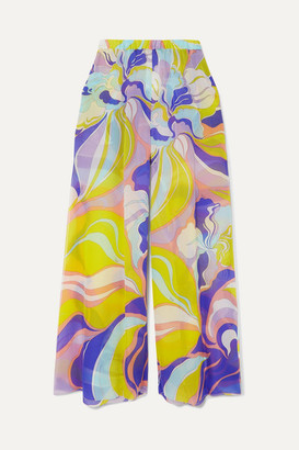 Emilio Pucci Printed Silk-georgette Pants - Purple