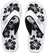 Board Angels Womens EVA Toe Post Sandals White/Black