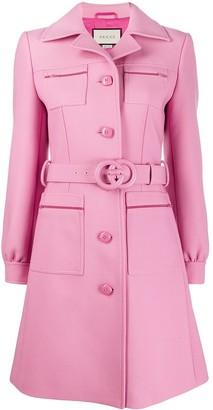 Gucci Interlocking G belted coat