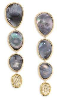 Marco Bicego Black Mother Of Pearl& Diamond Lunaria Earrings