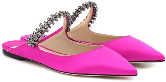 Jimmy Choo Exclusive to Mytheresa Bing Flat satin slippers