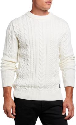 Scotch & Soda Men's Monsanto Crewneck Cable-Knit Sweater