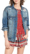 Band of Gypsies Women's Bailey Distressed Denim Jacket