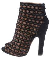 Alaia Peep-Toe Booties w/ Tags