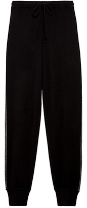 Theory Athletic Striped Cashmere Pants
