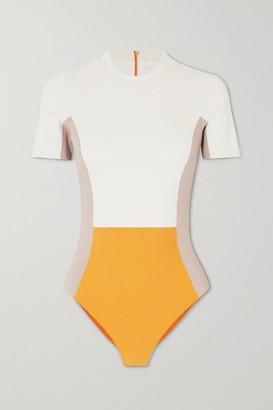 Vaara Cheyenne Color-block Swimsuit - Cream