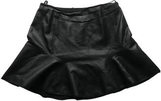 Carven Black Leather Skirt for Women