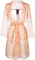 Max Mara belted midi coat - women - Silk - 42