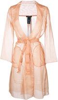 Max Mara belted midi coat - women - Silk - 46