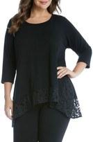 Karen Kane Lace Hem Top (Plus Size)