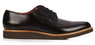 Common Projects Raised Sole Lace Up Leather Derby Shoes - Mens - Black