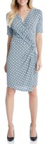 Karen Kane Women's Print Faux Wrap Dress