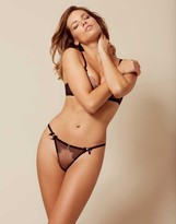 Agent Provocateur Lorna Thong Black With Pink Trim