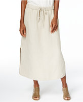 Eileen Fisher Organic Linen Midi Skirt