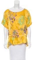 Chris Benz Floral Print Silk Top