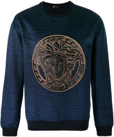 Versace Medusa sweatshirt - men - Cotton/Linen/Flax/Polyamide/Spandex/Elastane - M