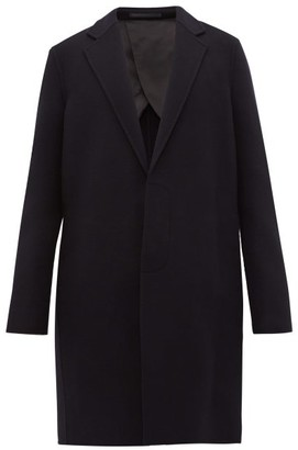 The Row Lucas Single-breasted Wool Overcoat - Navy