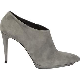Balenciaga \N Grey Suede Ankle boots