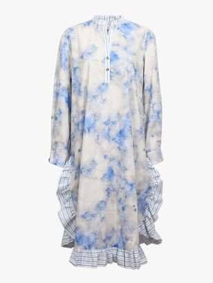 Baum und Pferdgarten Aerionna Ruffled Shirt Dress Cloud Blue Sky - 34