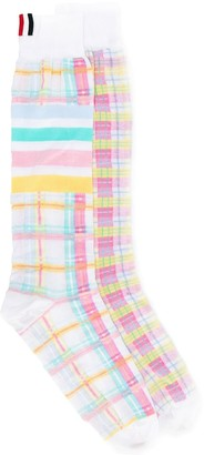 Thom Browne 4-Bar Stripe Jacquard Knee Socks