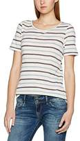 Pieces Women's Pcjila Striped Ss Tee Clw T-Shirt