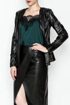 Tea n Rose Black Leather Jacket