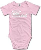ADAB Infant Glock Girl Cute Baby Onesie Bodysuit