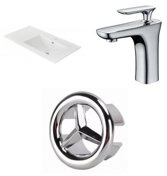"American Imaginations 1 Hole Ceramic 36"" Single Bathroom Vanity Top"