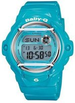 Casio #BG169R-2B Women's Glossy Whale Chronograph Alarm Baby G Watch