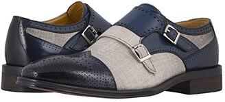 Stacy Adams Harper Cap Toe Double Monk Strap (Saddle Tan/Beige) Men's Shoes